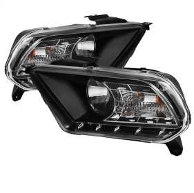 DRL LED Crystal Headlights